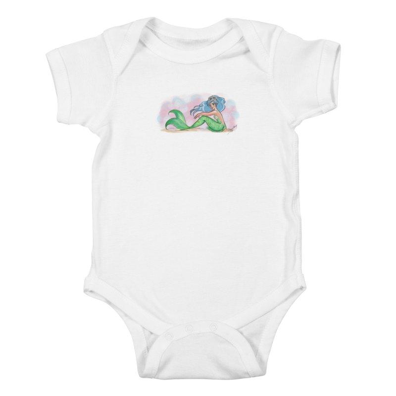 Mischievous Mermaid Kids Baby Bodysuit by girlgeek's Artist Shop