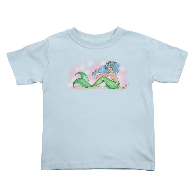 Mischievous Mermaid Kids Toddler T-Shirt by girlgeek's Artist Shop