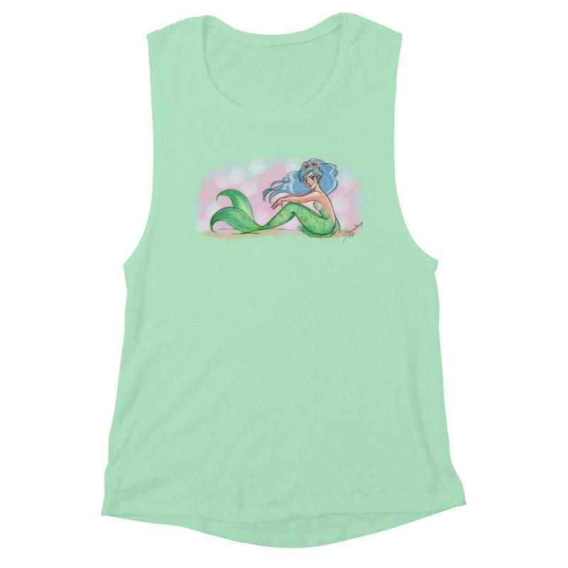 Mischievous Mermaid Women's Muscle Tank by girlgeek's Artist Shop