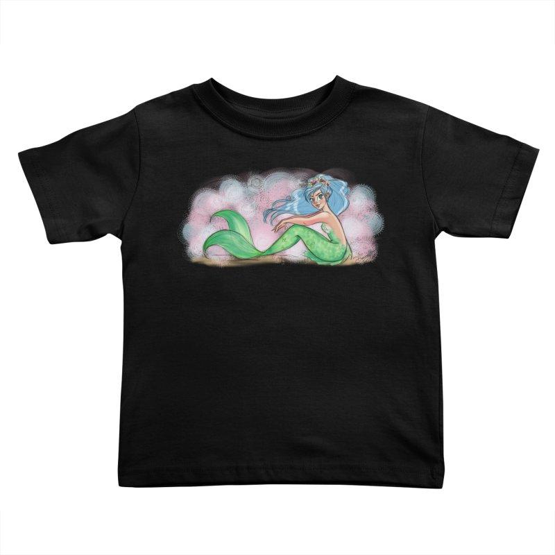 Mischievous Mermaid Kids Toddler T-Shirt by girlgeek's Artist Shop