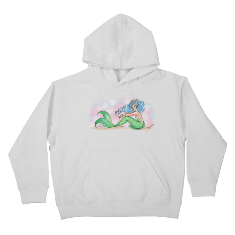 Mischievous Mermaid Kids Pullover Hoody by girlgeek's Artist Shop