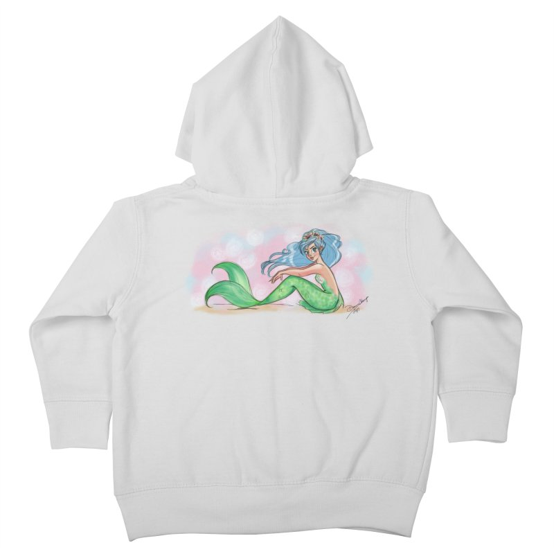 Mischievous Mermaid Kids Toddler Zip-Up Hoody by girlgeek's Artist Shop