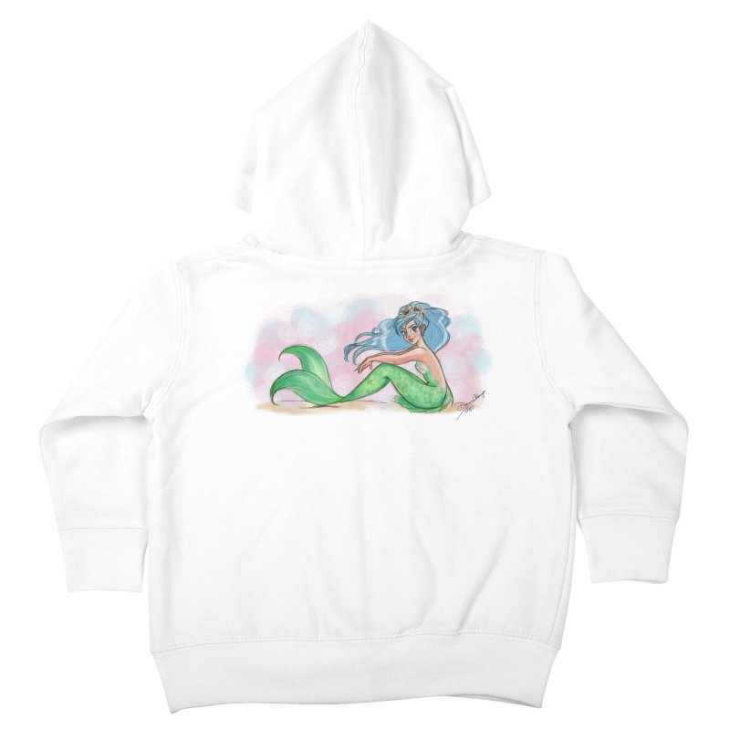 Mischievous Mermaid Kids Toddler Zip-Up Hoody by girlgeek's Artist Shop