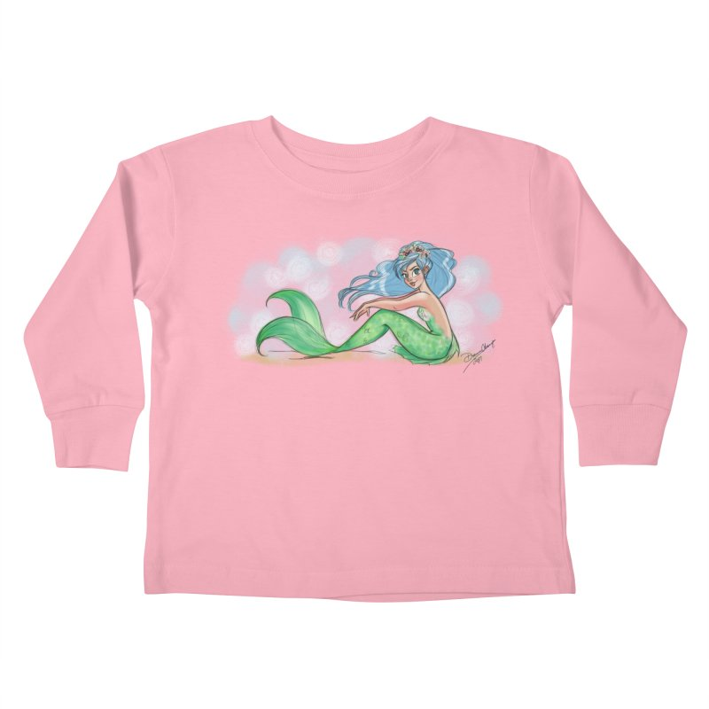 Mischievous Mermaid Kids Toddler Longsleeve T-Shirt by girlgeek's Artist Shop