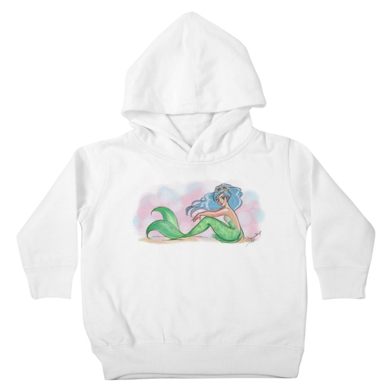 Mischievous Mermaid Kids Toddler Pullover Hoody by girlgeek's Artist Shop
