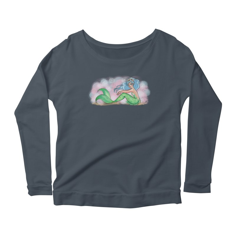 Mischievous Mermaid Women's Scoop Neck Longsleeve T-Shirt by girlgeek's Artist Shop