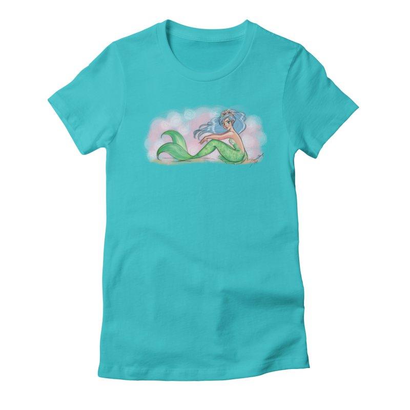 Mischievous Mermaid Women's T-Shirt by Dianna Cheng's Artist Shop