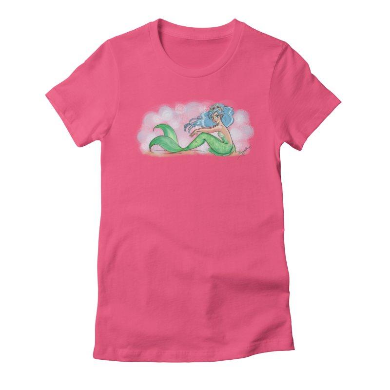 Mischievous Mermaid Women's Fitted T-Shirt by girlgeek's Artist Shop