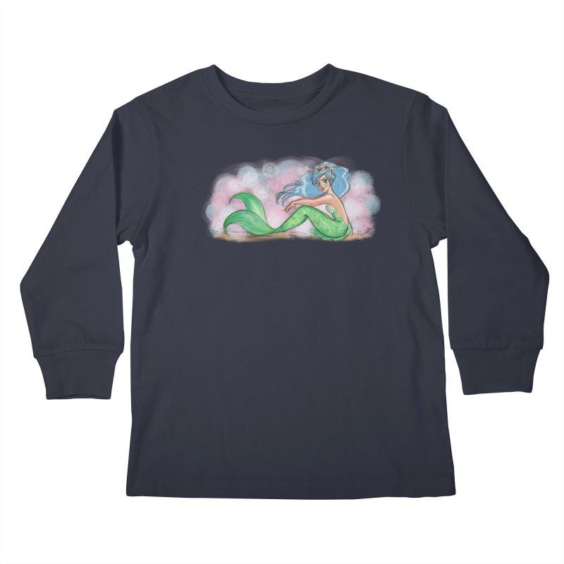 Mischievous Mermaid Kids Longsleeve T-Shirt by girlgeek's Artist Shop
