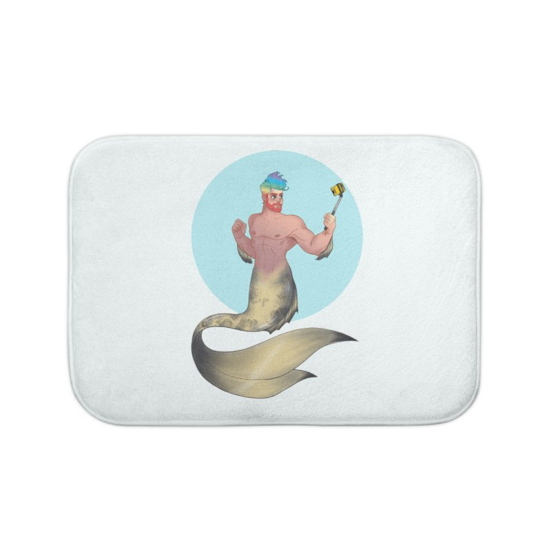 Rainbow Shellfie Home Bath Mat by girlgeek's Artist Shop