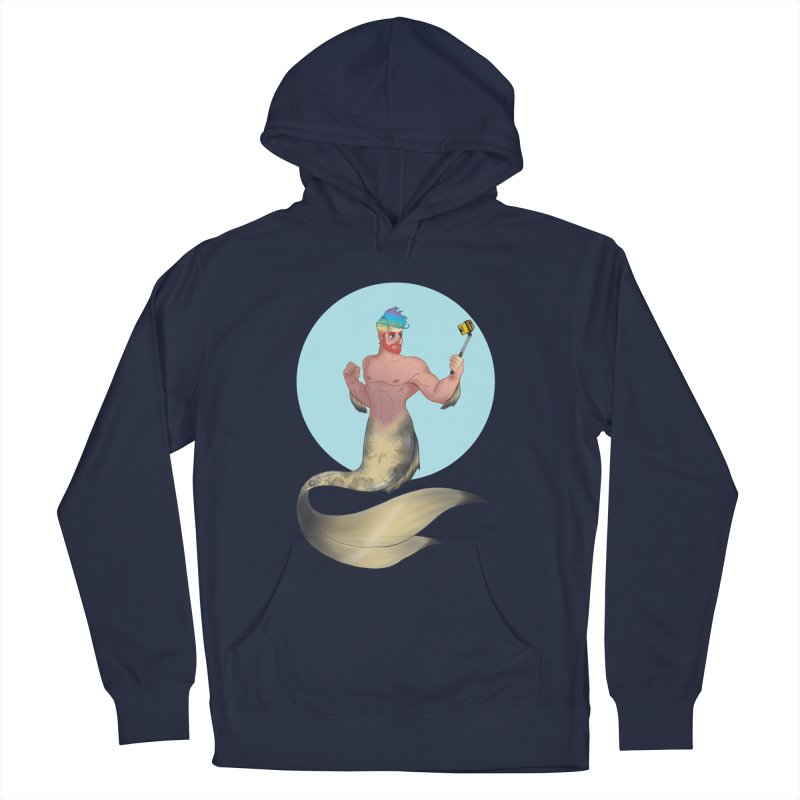 Rainbow Shellfie Men's Pullover Hoody by girlgeek's Artist Shop
