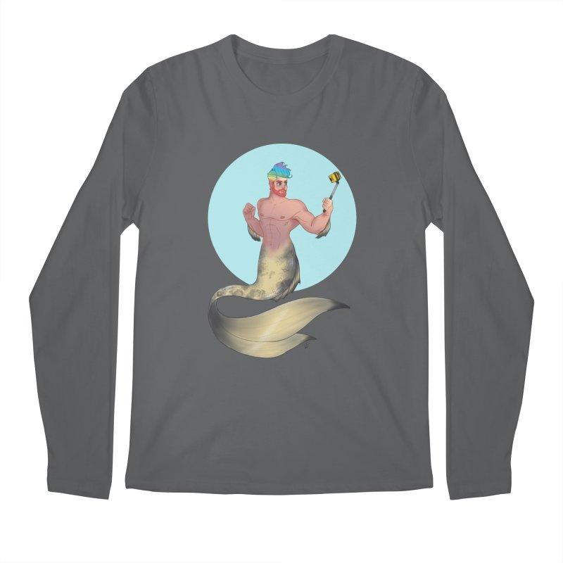 Rainbow Shellfie Men's Longsleeve T-Shirt by girlgeek's Artist Shop