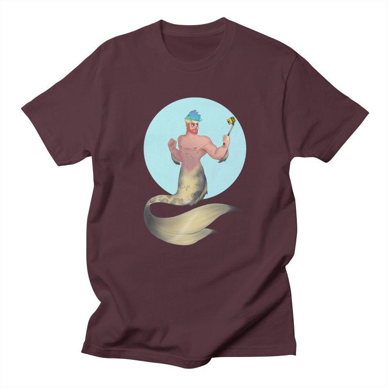 Rainbow Shellfie Men's T-Shirt by girlgeek's Artist Shop