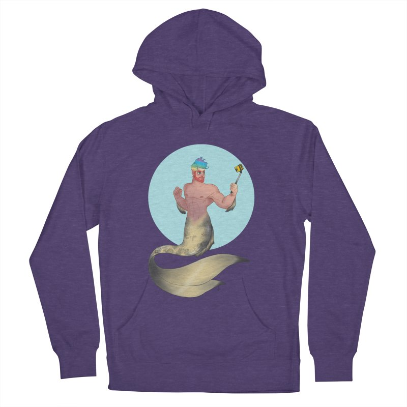 Rainbow Shellfie Men's French Terry Pullover Hoody by girlgeek's Artist Shop