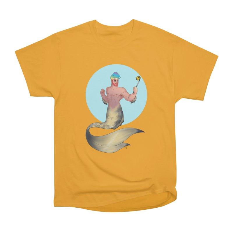 Rainbow Shellfie Men's Heavyweight T-Shirt by girlgeek's Artist Shop