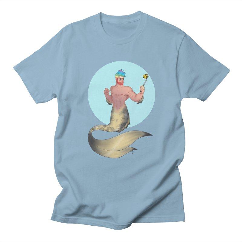 Rainbow Shellfie Men's Regular T-Shirt by girlgeek's Artist Shop