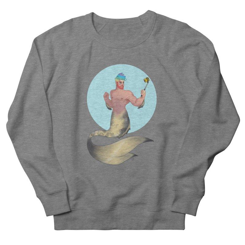Rainbow Shellfie Men's French Terry Sweatshirt by girlgeek's Artist Shop