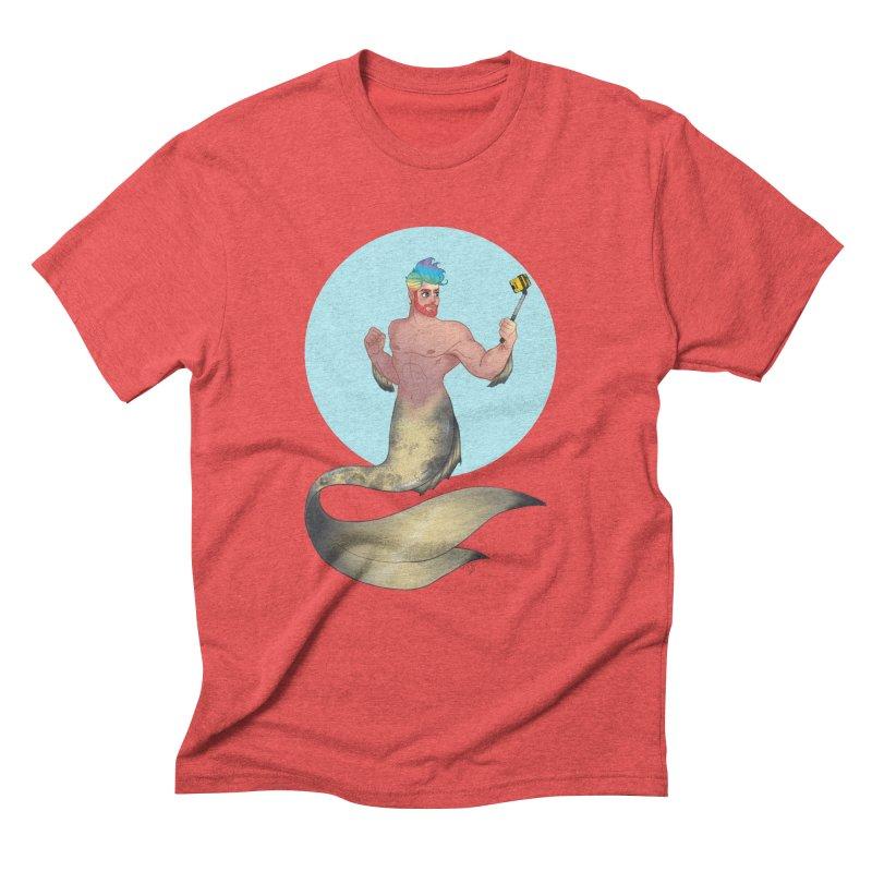 Rainbow Shellfie Men's Triblend T-Shirt by girlgeek's Artist Shop