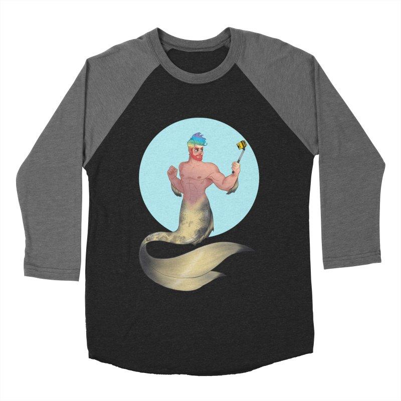 Rainbow Shellfie Men's Baseball Triblend Longsleeve T-Shirt by girlgeek's Artist Shop