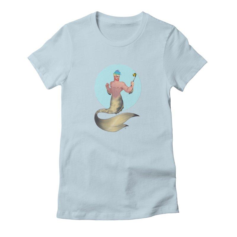Rainbow Shellfie Women's T-Shirt by girlgeek's Artist Shop