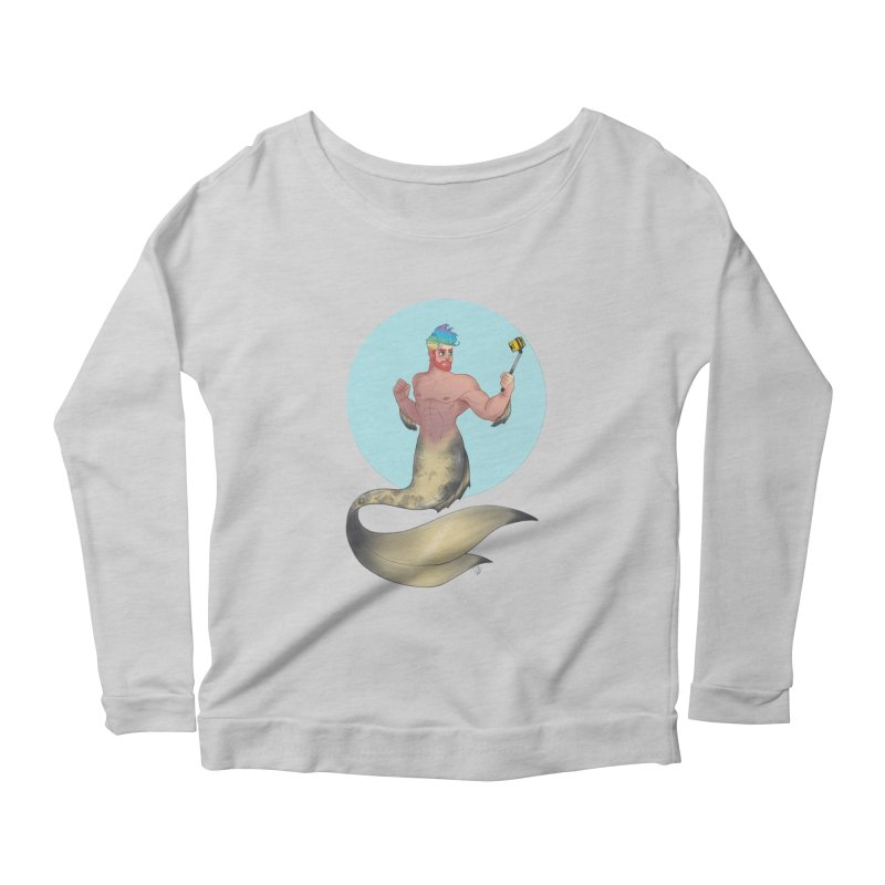 Rainbow Shellfie Women's Scoop Neck Longsleeve T-Shirt by girlgeek's Artist Shop