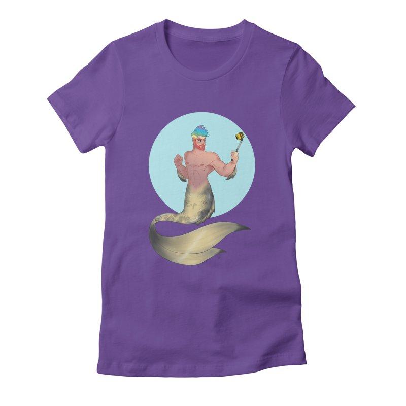 Rainbow Shellfie Women's Fitted T-Shirt by girlgeek's Artist Shop