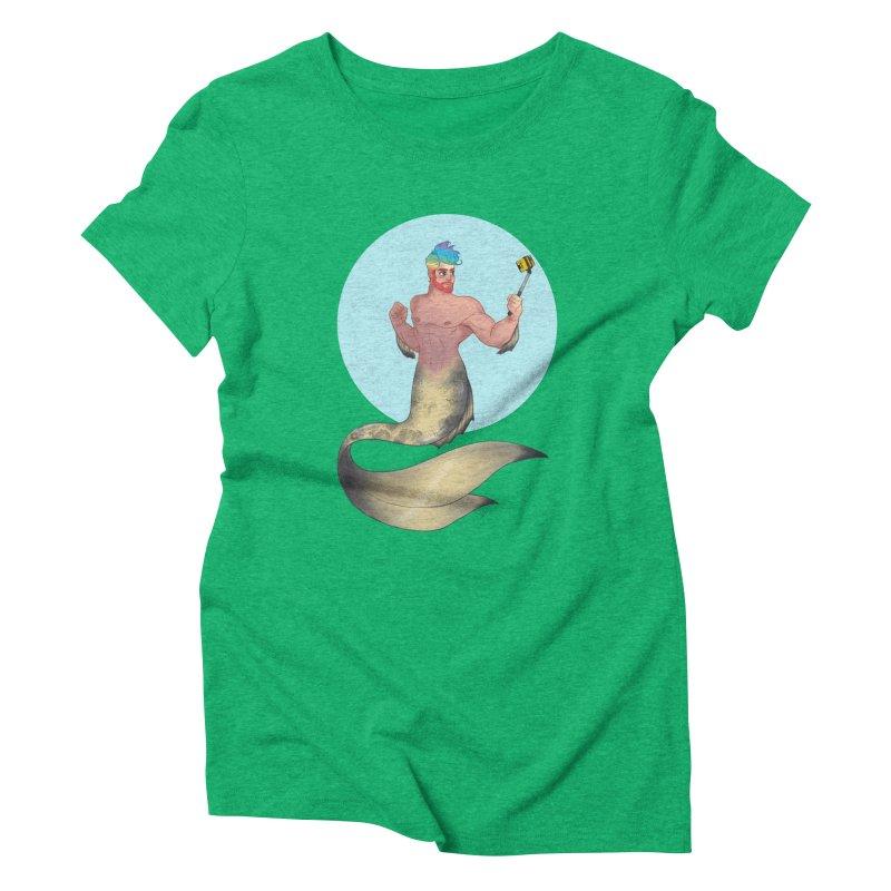 Rainbow Shellfie Women's Triblend T-Shirt by girlgeek's Artist Shop