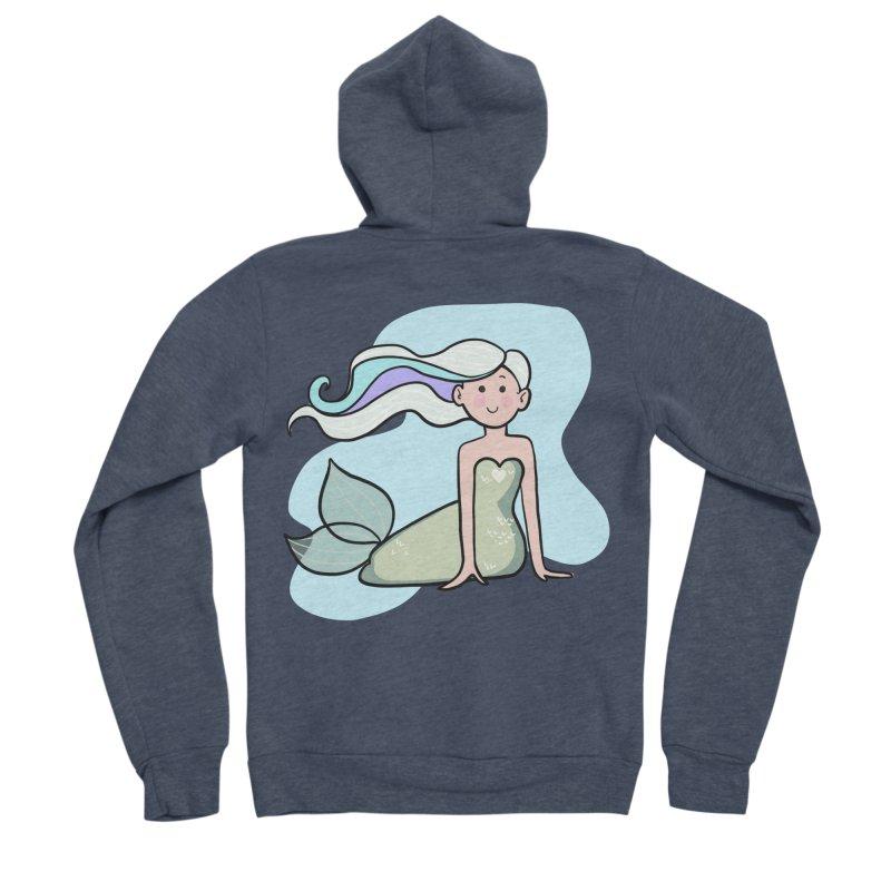 Happy Mermaid Men's Sponge Fleece Zip-Up Hoody by girlgeek's Artist Shop