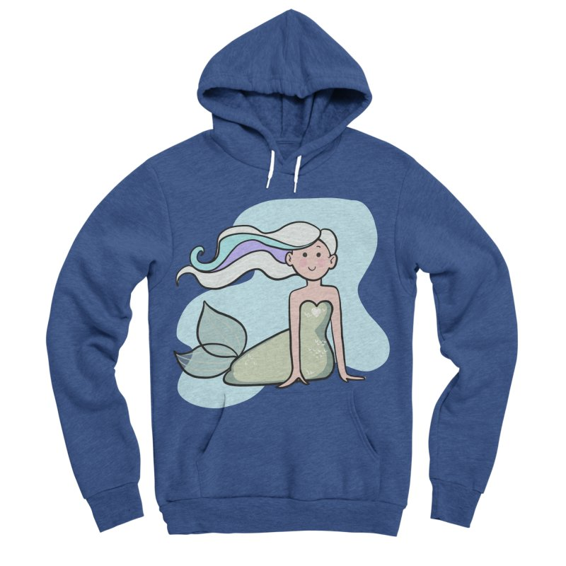 Happy Mermaid Women's Sponge Fleece Pullover Hoody by girlgeek's Artist Shop