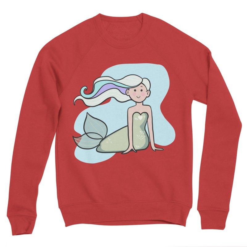 Happy Mermaid Women's Sponge Fleece Sweatshirt by girlgeek's Artist Shop