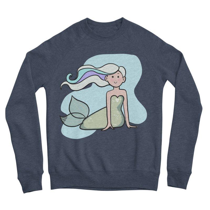 Happy Mermaid Men's Sponge Fleece Sweatshirt by girlgeek's Artist Shop