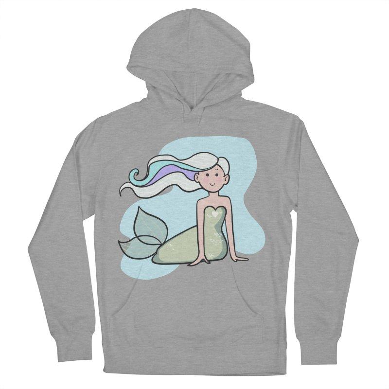 Happy Mermaid Women's Pullover Hoody by girlgeek's Artist Shop