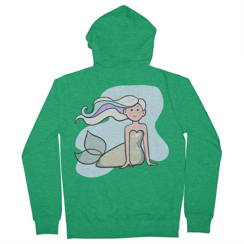 Happy Mermaid Women's Zip-Up Hoody by girlgeek's Artist Shop
