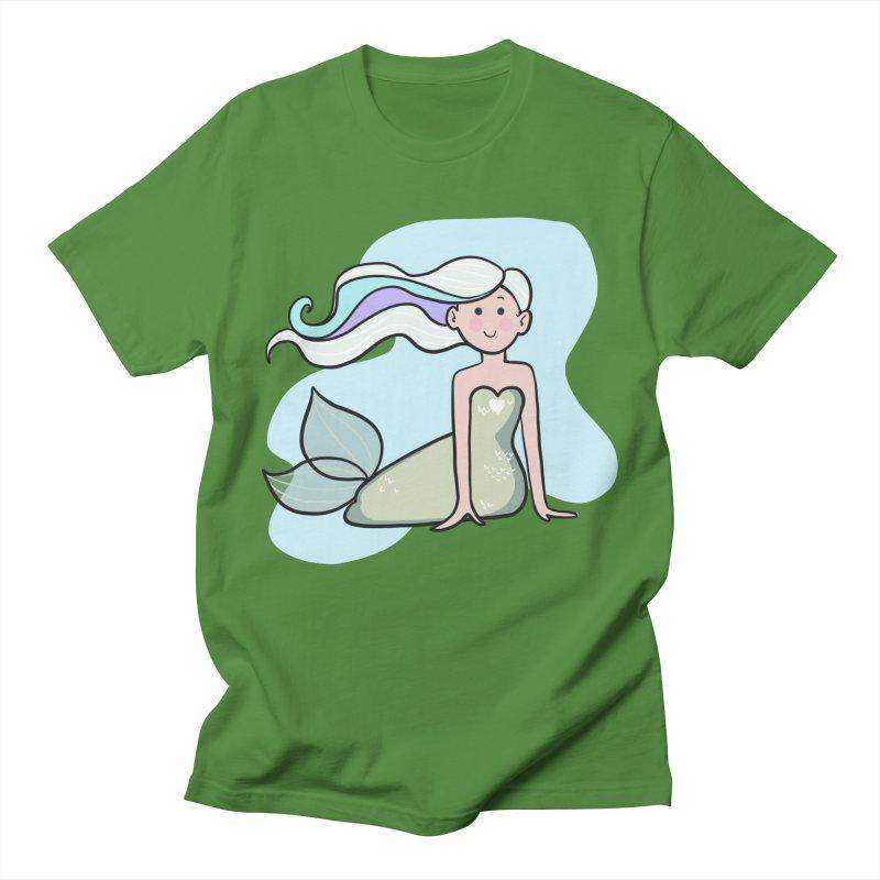 Happy Mermaid Men's T-Shirt by girlgeek's Artist Shop