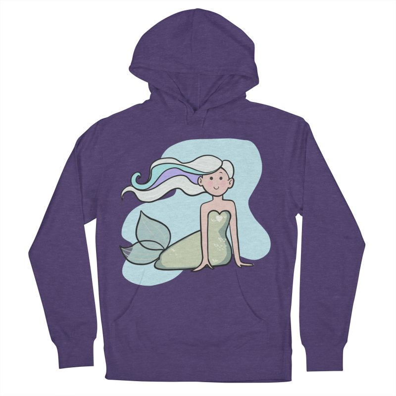 Happy Mermaid Men's French Terry Pullover Hoody by girlgeek's Artist Shop