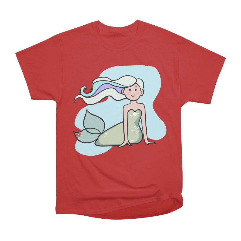 Happy Mermaid Men's Heavyweight T-Shirt by girlgeek's Artist Shop