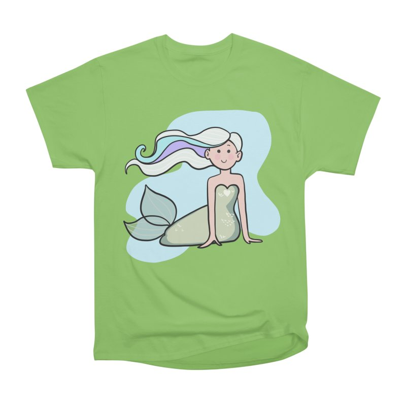 Happy Mermaid Men's Heavyweight T-Shirt by girlgeek's Artist Shop