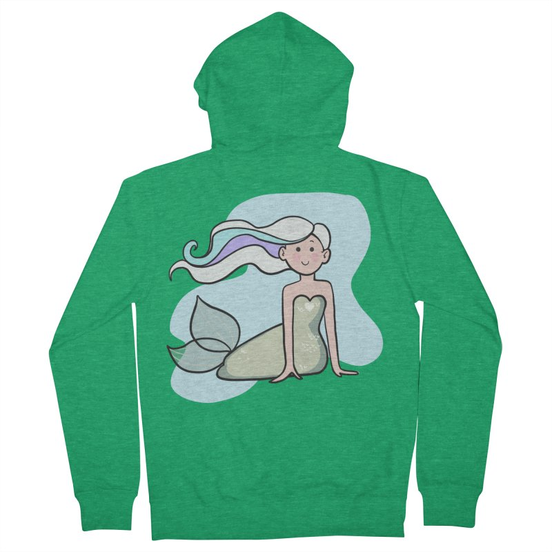 Happy Mermaid Men's French Terry Zip-Up Hoody by girlgeek's Artist Shop