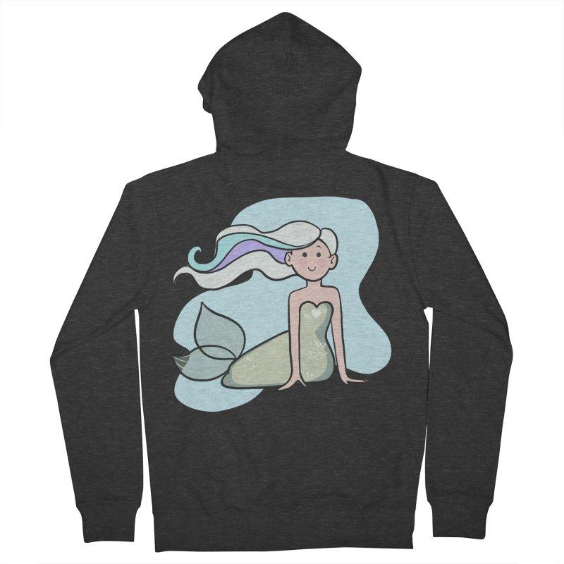 Happy Mermaid Men's French Terry Zip-Up Hoody by girlgeek's Artist Shop