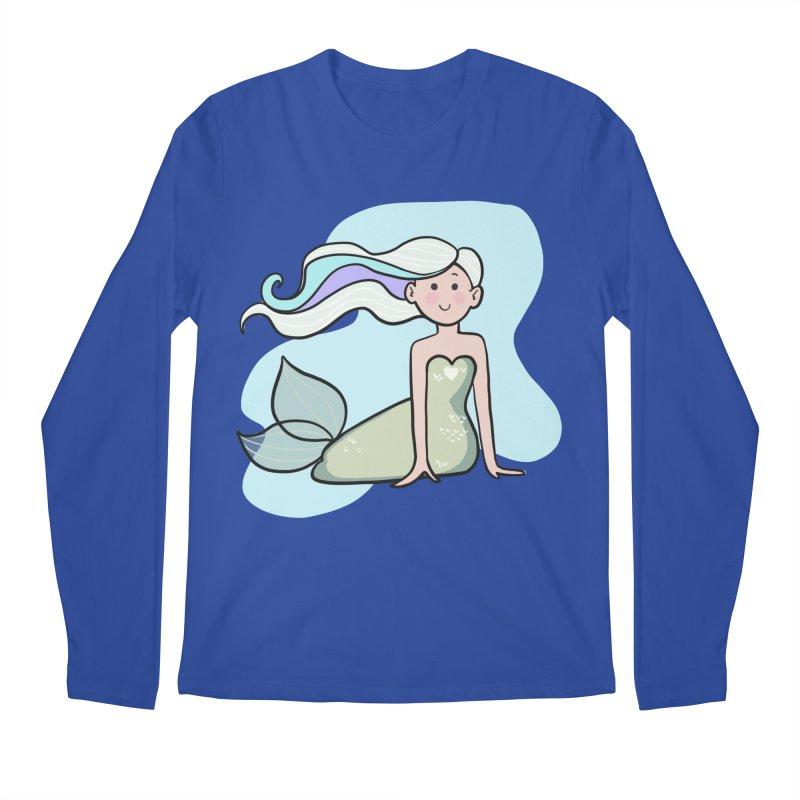 Happy Mermaid Men's Regular Longsleeve T-Shirt by girlgeek's Artist Shop
