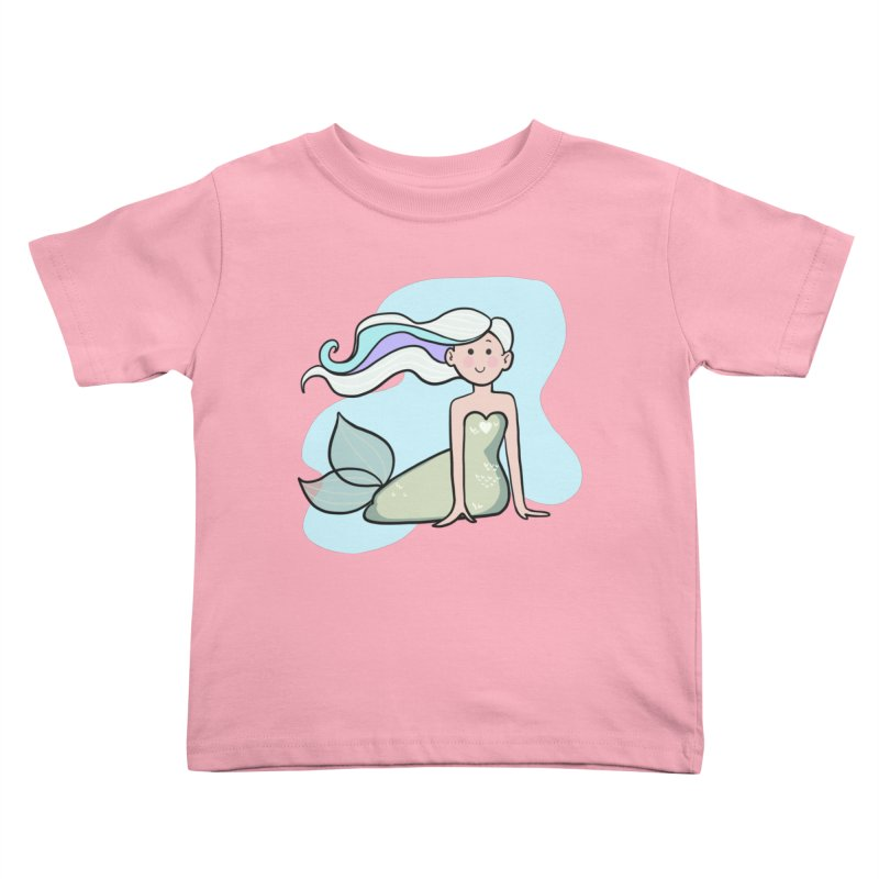 Happy Mermaid Kids Toddler T-Shirt by girlgeek's Artist Shop