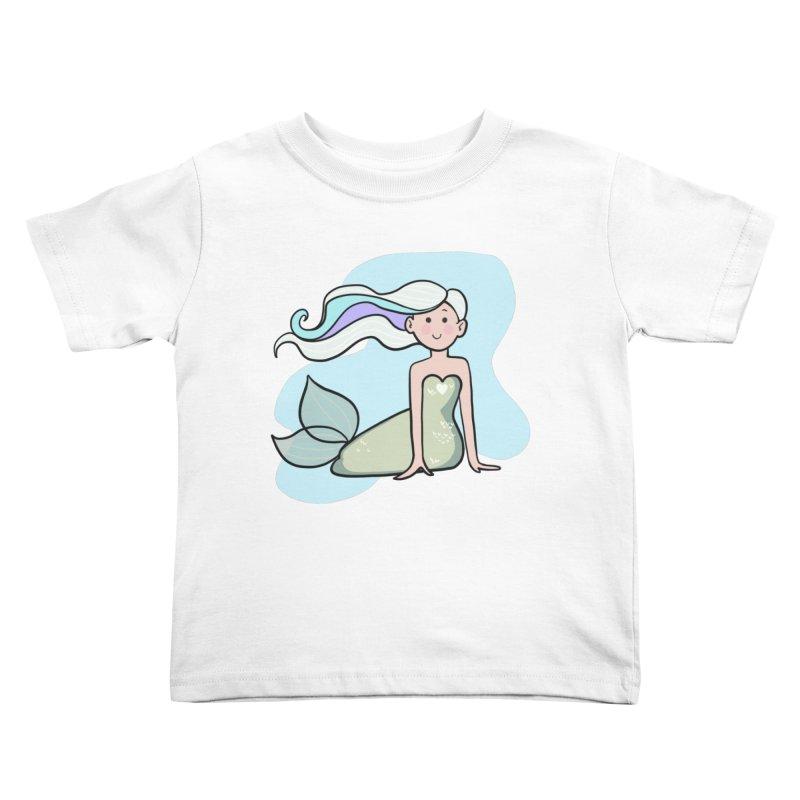 Happy Mermaid Kids Toddler T-Shirt by girlgeek's Artist Shop