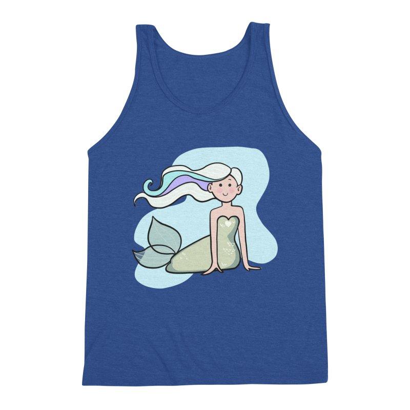 Happy Mermaid Men's Triblend Tank by girlgeek's Artist Shop