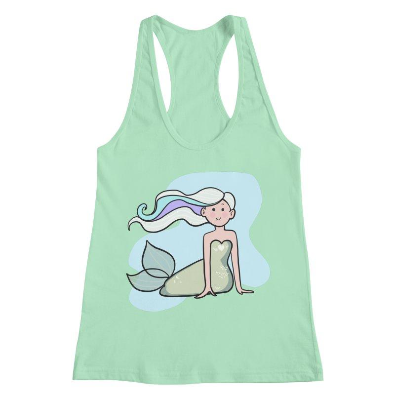 Happy Mermaid Women's Racerback Tank by girlgeek's Artist Shop