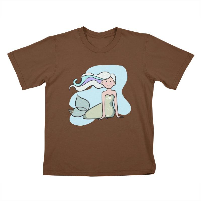 Happy Mermaid Kids T-Shirt by girlgeek's Artist Shop