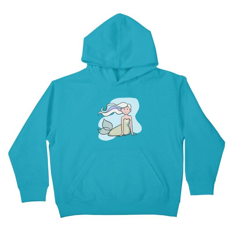 Happy Mermaid Kids Pullover Hoody by girlgeek's Artist Shop