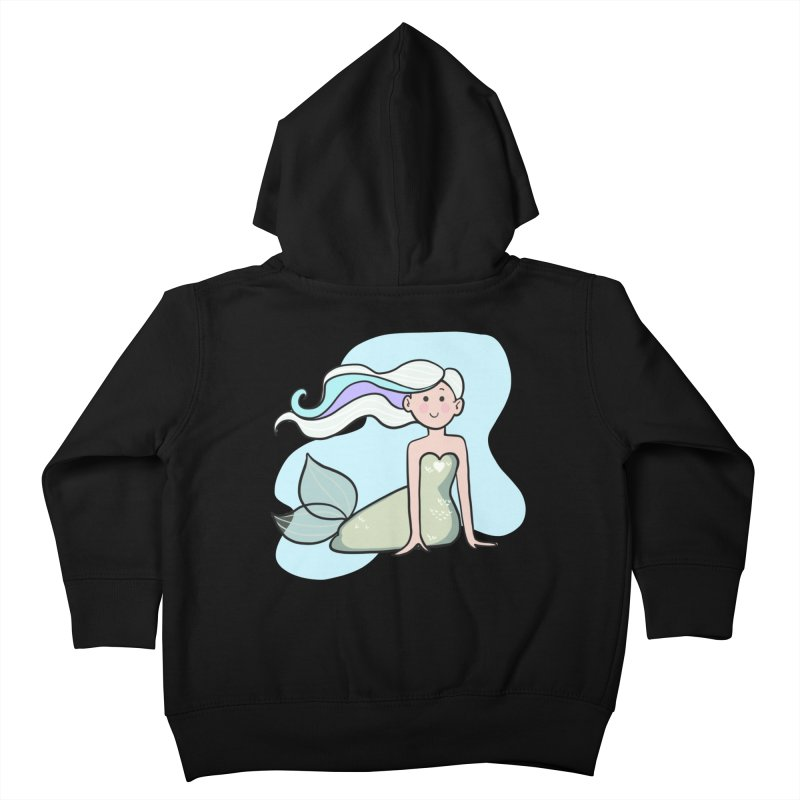 Happy Mermaid Kids Toddler Zip-Up Hoody by girlgeek's Artist Shop