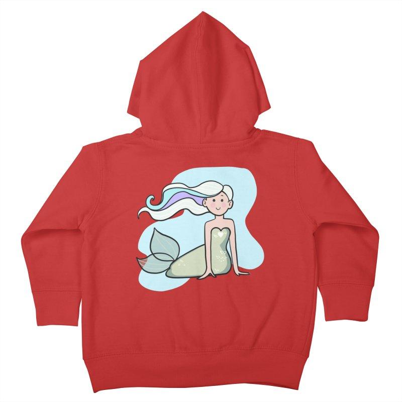 Happy Mermaid Kids Toddler Zip-Up Hoody by girlgeek's Artist Shop