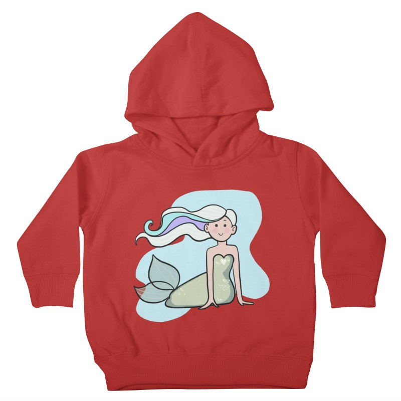 Happy Mermaid Kids Toddler Pullover Hoody by girlgeek's Artist Shop