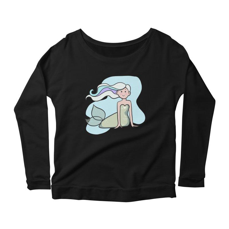 Happy Mermaid Women's Longsleeve T-Shirt by girlgeek's Artist Shop